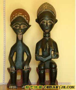 非洲传统工艺:黑人部族的面具木雕