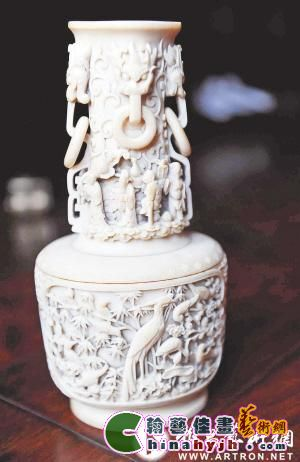 八仙过海象牙雕