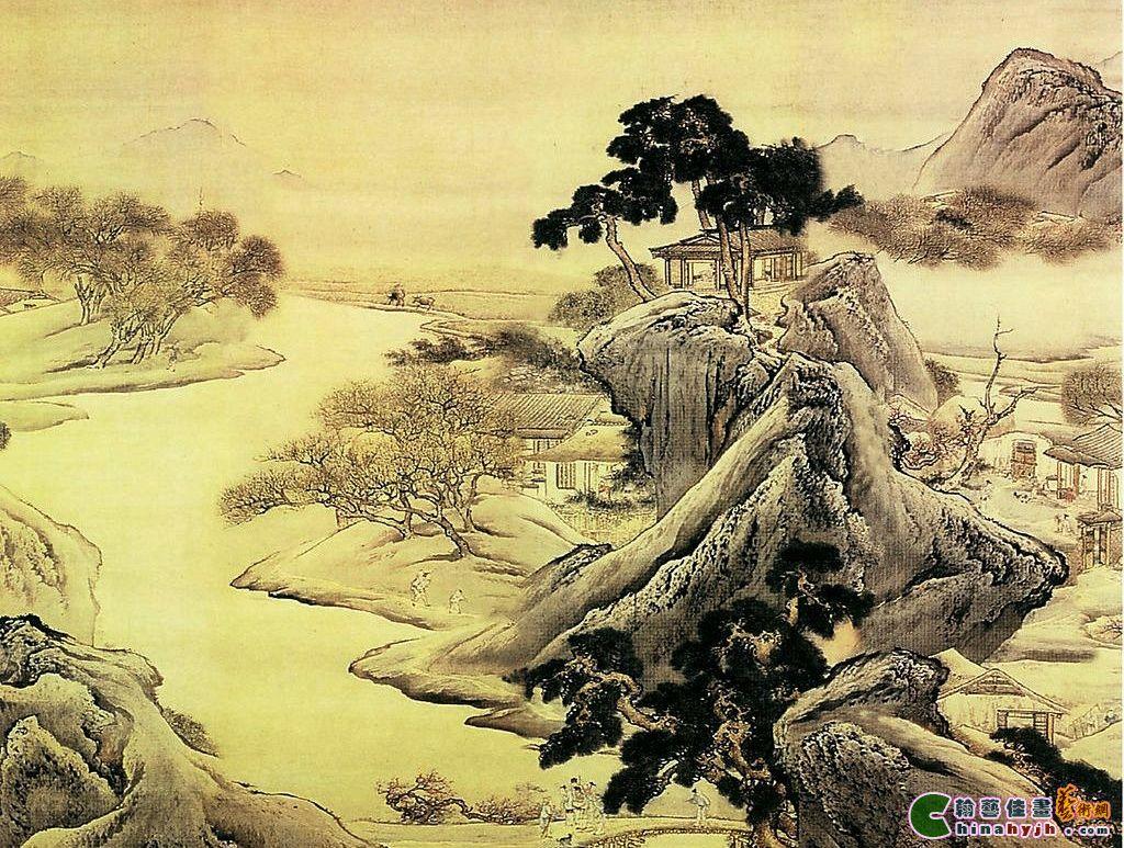 桃源图之二 袁耀 中国古代山水画 国画 世外桃源