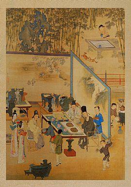 竹院品古图图片